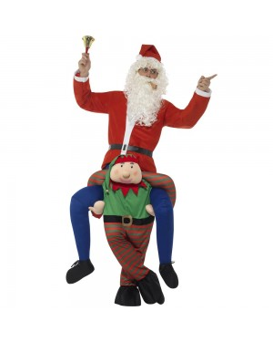 Elf Piggy Back Costume Front View at Fancy Dress and Party