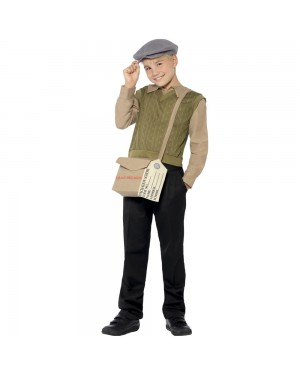 Evacuee Boy Kit Front View at Fancy Dress and Party