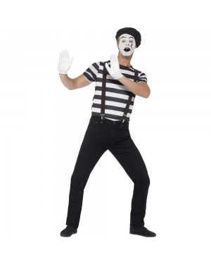 Gentleman Mime Artist Costume Front View at Fancy Dress and Party