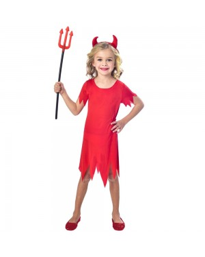 Girls Devil Costume at Fancy Dress and Party