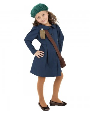 Girls Evacuee Costume Front at Fancy Dress and Party