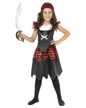 Girls Gothic Pirate Costume at Fancy Dress and Party