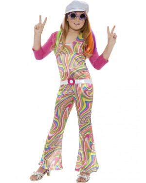 Girls Groovy Costume at Fancy Dress and Party