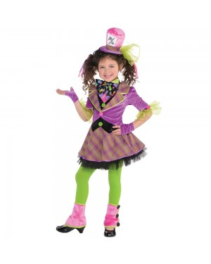 Girls Mad Hatter Costume at Fancy Dress and Party