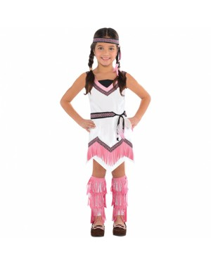 Girls Native American Costume at Fancy Dress and Party