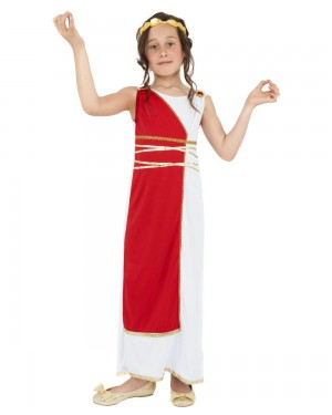 Girls Toga Costume Front at Fancy Dress and Party