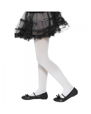 Girls White Tights at Fancy Dress and Party