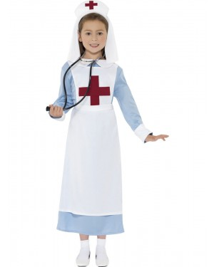 Girls WW1 Nurse Costume at Fancy Dress and Party