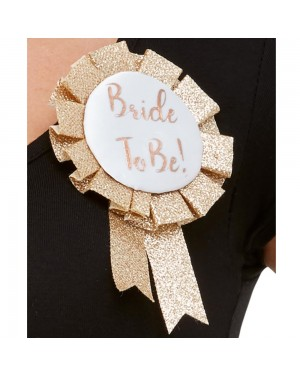 Glitter Bride to Be Rosette at Fancy Dress and Party