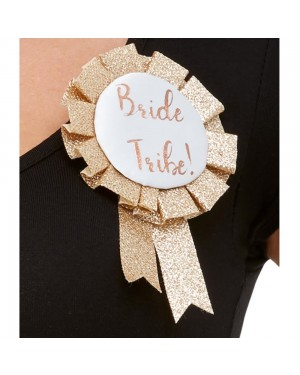 Glitter Bride Tribe Rosette at Fancy Dress and Party