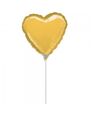 Gold Heart 9 Inch Balloon at Fancy Dress and Party