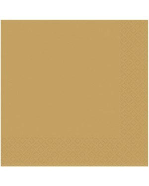Gold Napkins Pack of 50 at Fancy Dress and Party