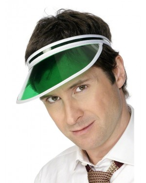 Green Poker Visor at Fancy Dress and Party