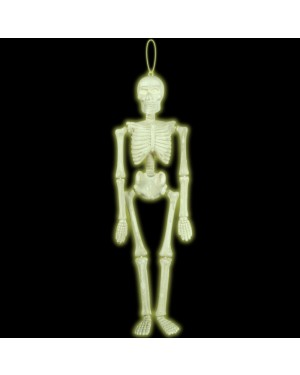 Hanging Glow in the Dark Skeleton Decoration at Fancy Dress and Party