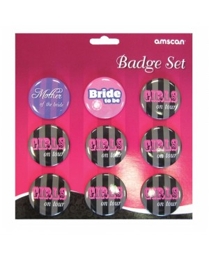 Hen Night Party Badges at Fancy Dress and Party