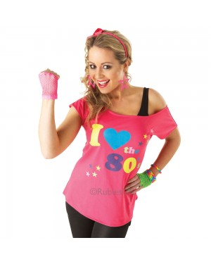 I Love The 80s T-Shirt at Fancy Dress and Party