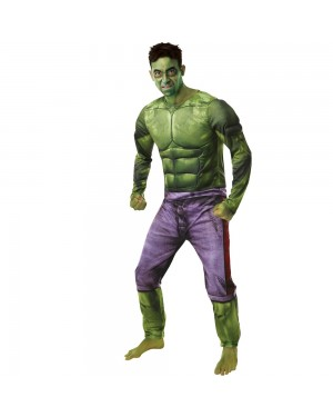 Incredible Hulk Costume Front View at Fancy Dress and Party