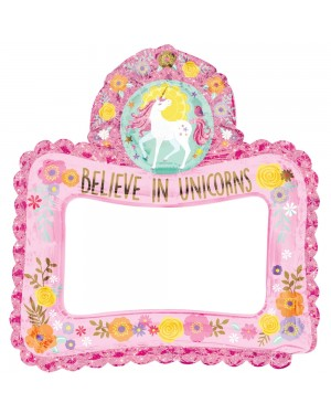 Inflatable Unicorn Selfie Frame at Fancy Dress and Party