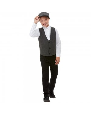 Kids 1920s Waistcoat and Flat Cap at Fancy Dress and Party