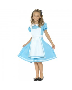 Kids Alice Costume Front View at Fancy Dress and Party
