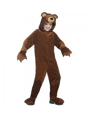Kids Bear Onesie Front View at Fancy Dress and Party