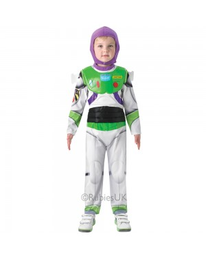 Kids Deluxe Buzz Lightyear Costume at Fancy Dress and Party