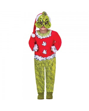 Kids Grinch Costume at Fancy Dress and Party