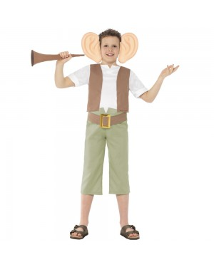Kids Roald Dahl BFG Costume Front View at Fancy Dress and Party