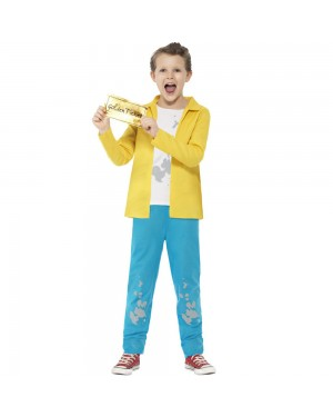 Kids Roald Dahl Charlie Bucket Costume Front View at Fancy Dress and Party