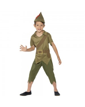 Kids Robin Hood Costume Front View at Fancy Dress and Party