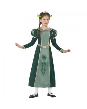 Kids Shrek Princess Fiona Costume Front View at Fancy Dress and Party