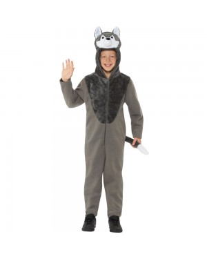 Kids Wolf Onesie Costume at Fancy Dress and Party