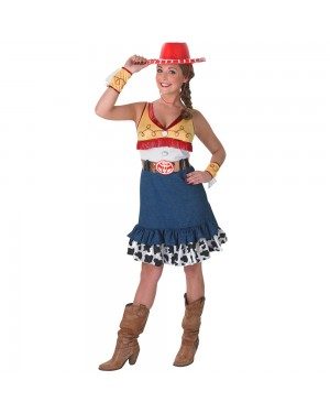 Ladies Adult Toy Story Jessie Costume Front View at Fancy Dress and Party