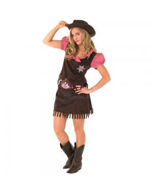 Ladies Cowgirl Costume at Fancy Dress and Party