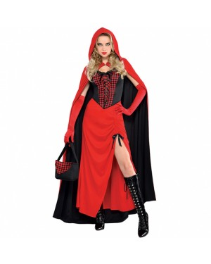 Ladies Enchantress Riding Hood Costume at Fancy Dress and Party