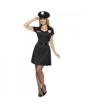 Ladies Special Constable Costume Front View at Fancy Dress and Party