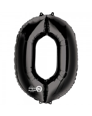 Large Black Number 0 Foil Balloon at Fancy Dress and Party