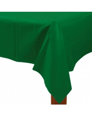 Large Plastic Green Tablecloth at Fancy Dress and Party