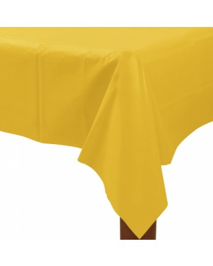 Large Plastic Yellow Tablecloth at Fancy Dress and Party