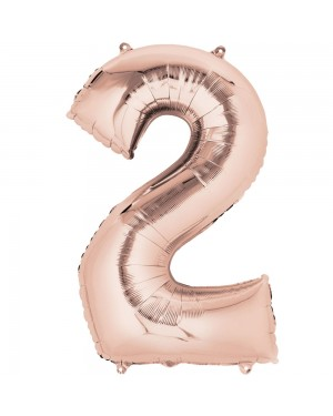 Large Rose Gold Number 2 Foil Balloon at Fancy Dress and Party