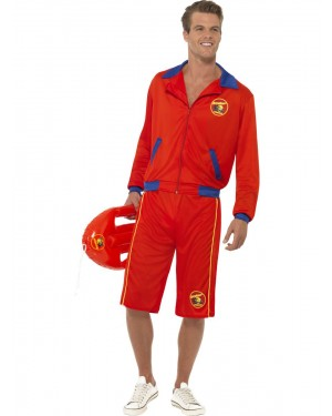 Long Baywatch Costume Front View at Fancy Dress and Party