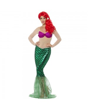 Long Mermaid Dress Front View at Fancy Dress and Party