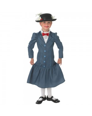 Mary Poppins Licensed Costume at Fancy Dress and Party