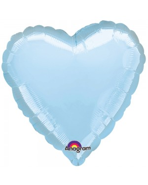 Metallic Pale Blue Heart Shaped Helium Balloon at Fancy Dress and Party