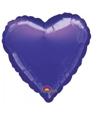 Metallic Purple Heart Balloon at Fancy Dress and Party