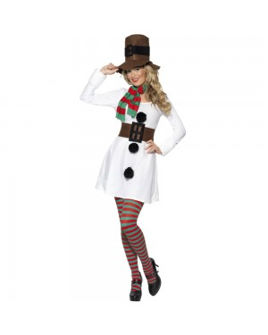 Miss Snowman Costume Front View at Fancy Dress and Party