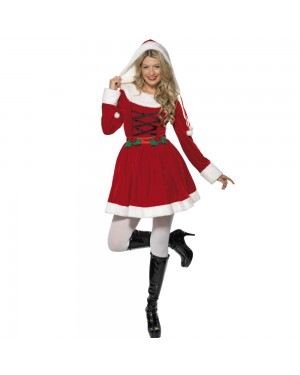 Ms Santa Costume Front View at Fancy Dress and Party