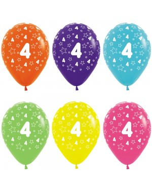 Multi Coloured 4th Birthday Balloons at Fancy Dress and Party