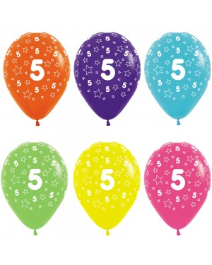 Multi Coloured 5th Birthday Balloons at Fancy Dress and Party