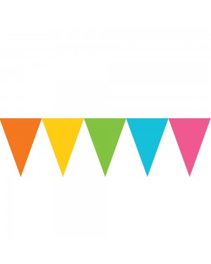 Multi Coloured Pennant Banners at Fancy Dress and Party